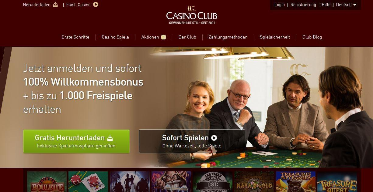 casinoclub authentische permanenzen