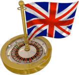 UK Flag Roulette Wheel
