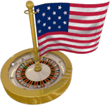 Roulette Wheel with US Flag