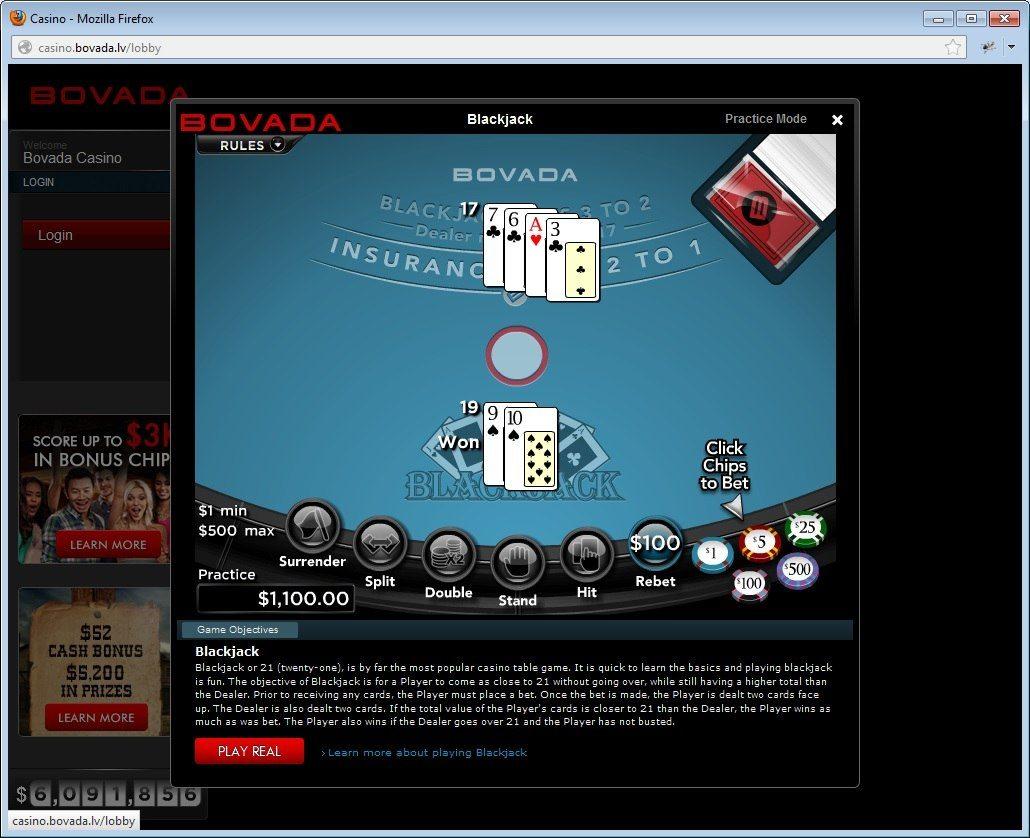 bovada online casino roulette