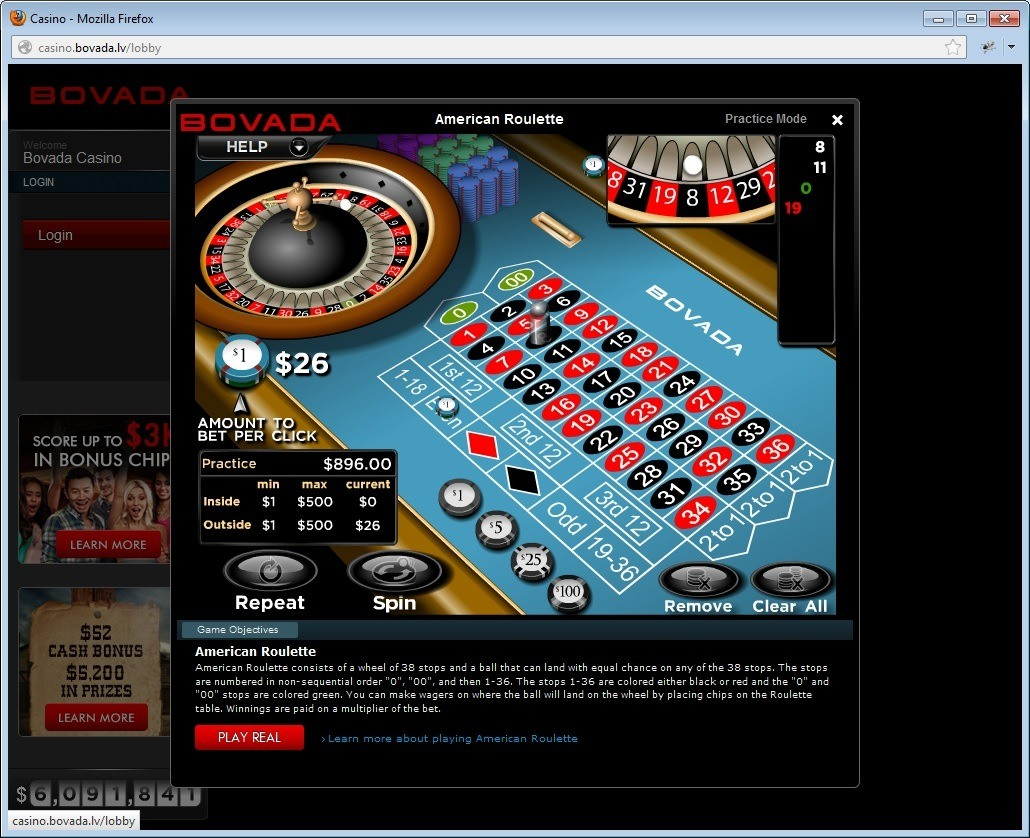 Bovada - American Roulette