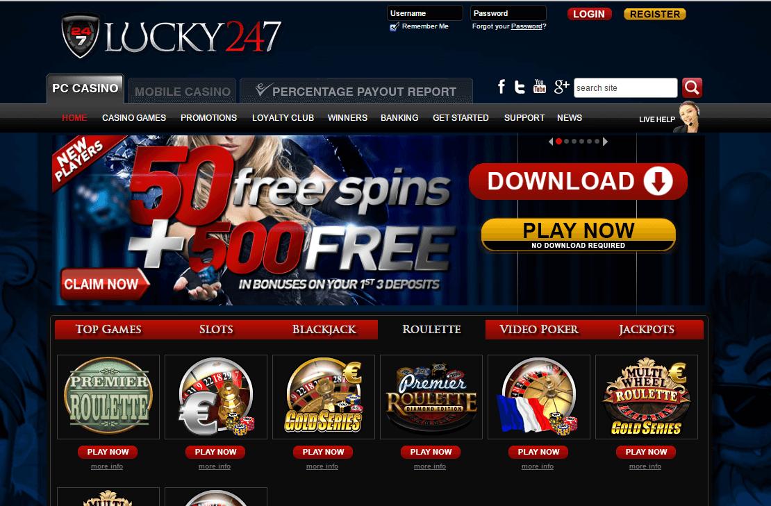 Lucky247 Casino - Home