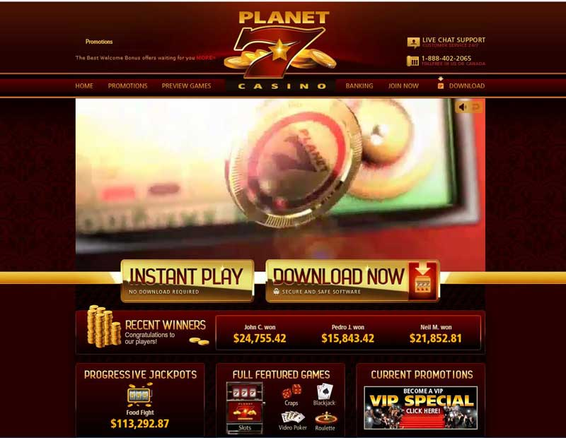Planet 7 Casino Payout