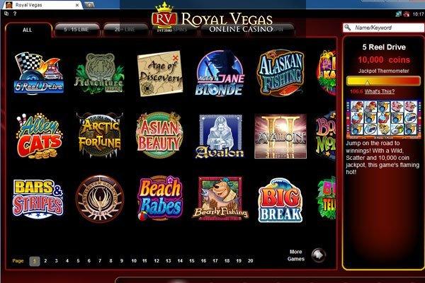 Royal Vegas Casino - Lobby 2