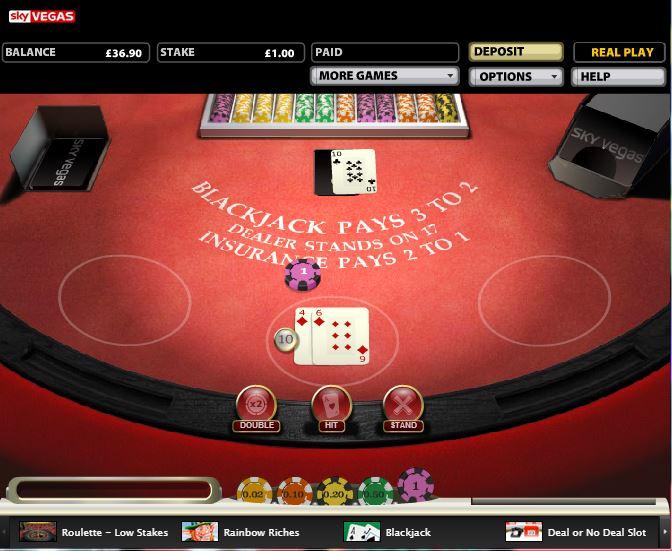 Sky Vegas Casino - Blackjack