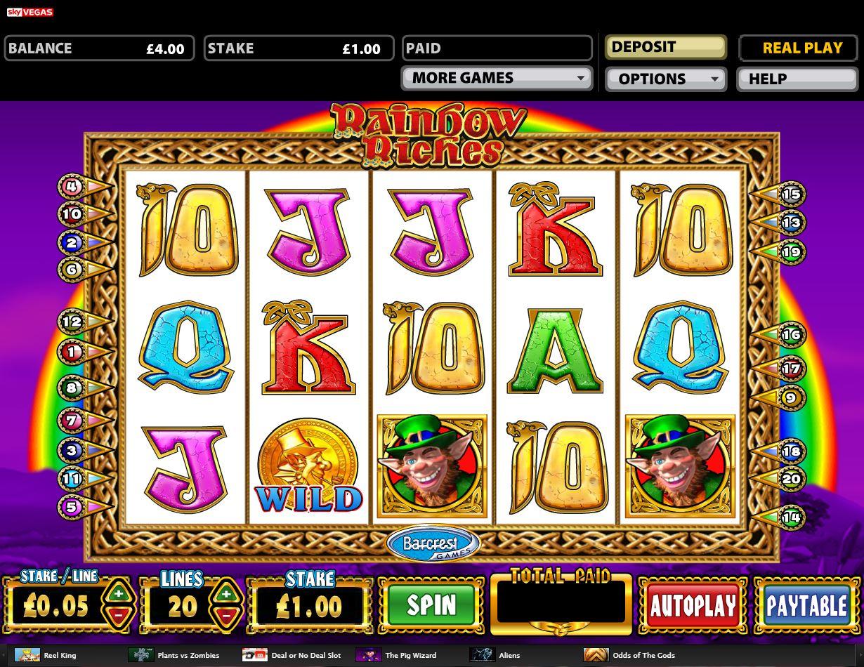 Sky Vegas Casino - Rainbow Riches