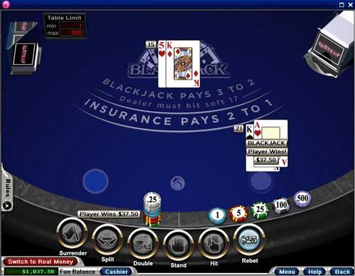 Slots.lv blackjack